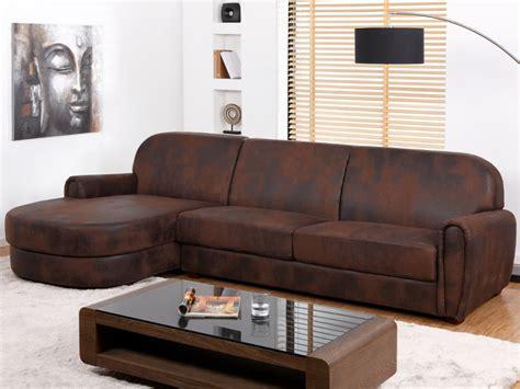 canapé d angle cuir vieilli canapé d 39 angle gauche en microfibre vieilli victory ii