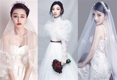 谁是时尚新娘 女明星婚纱造型PK[1]- 中国日报网