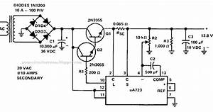 Simple 8 Amp Regulated Power Supply Wiring Diagram