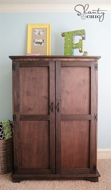 woodwork armoire furniture plans  build  plans