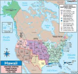 Hawaii and United States Map