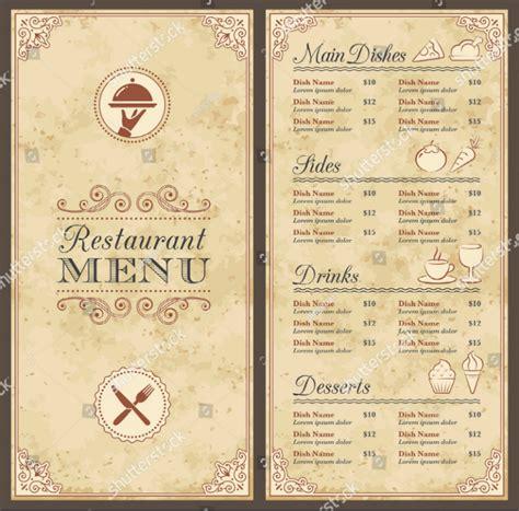 blank menu templates ai psd docs pages