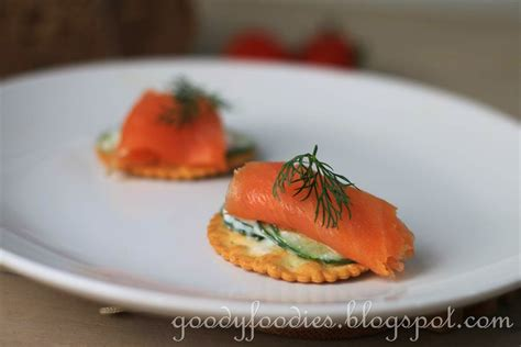 canapé but goodyfoodies recipe smoked salmon and yogurt cucumber