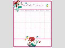 Disney Princess Calendar Printable Princess Printable