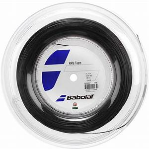 Babolat RPM Team 16 (1.30mm) Black Tennis Strings - 200M ...