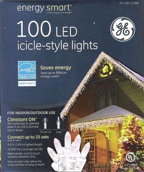 ge energy smart 100 led icicle style warm white lights