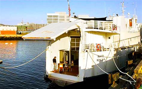 Old Boat Turned Into House by Olle Lundberg Transformed A Salvaged Ferry Boat Into A