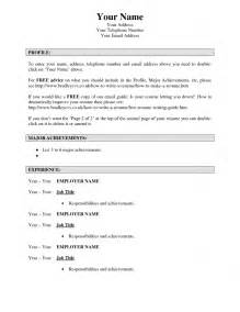 How To Create A Resume Template A Resume Resume Cv Exle Template