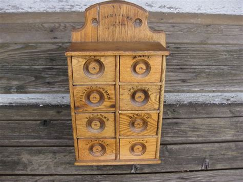 spice cabinet wall mount antique wood spice cabinet drawers wall mounted vintage