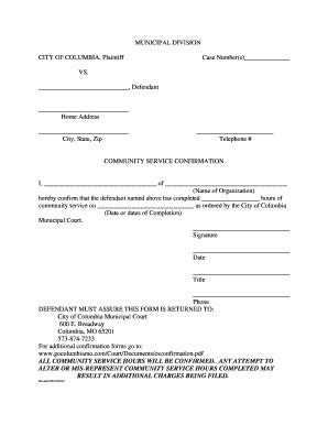 community service completion letter community service completion form for court fillable 20922   28009323