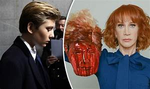 Trump LASHES OUT at severed head prank claiming Barron ...