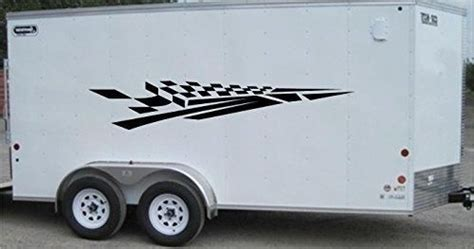 checkered flag racing trailer decals stickers murals set