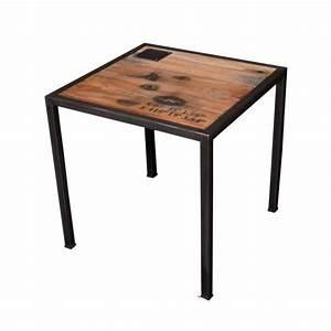 Petite Table Bois : petite table bois m tal loft achat vente table basse ~ Teatrodelosmanantiales.com Idées de Décoration