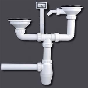 Double kitchen siphon sink drainage sinks sieve basket for Küchen siphon