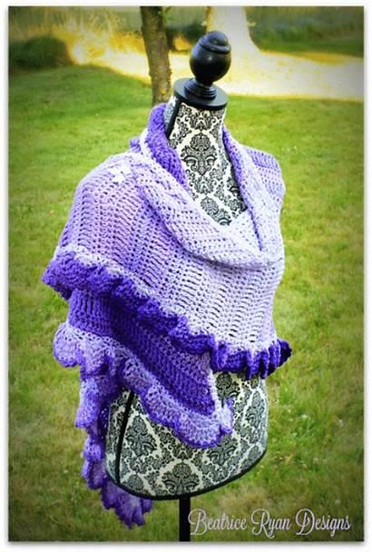 Purple Ombre Pattern Heart Shawl Fades Saver