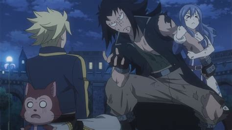 fairy tail anime gajeel gajeel scares sting daily anime art