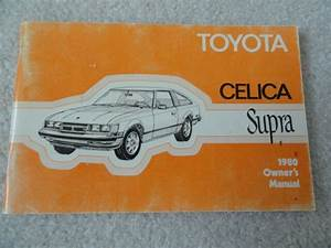 1980 Toyota Celica Supra Owners Manual