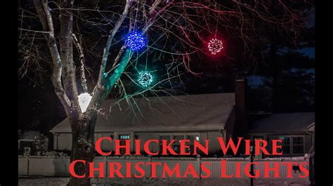 chicken wire christmas lights how to make lighted chicken wire balls diy outdoor decorations