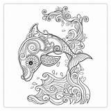 Dolphins Coloring Dolphin Printable Mermaid Dive Deep Sea Into Raskrasil sketch template