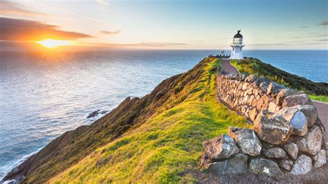 lighthouse cape reinga   zealand wallpapers hd images