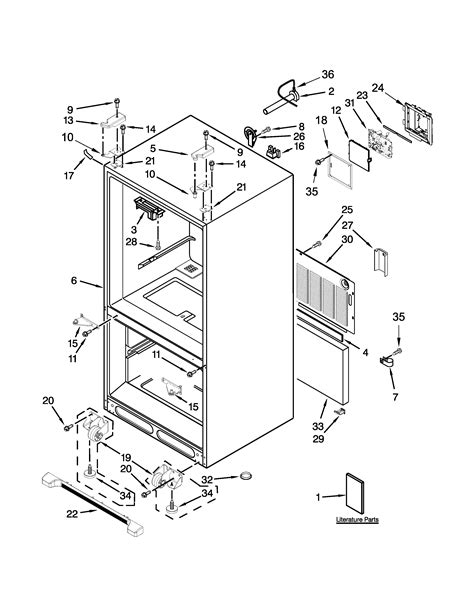 Kitchenaid Fridge Model Number by Kitchenaid Refrigerator Parts Model Krff302ess00 Sears
