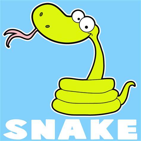draw  cartoon snake  easy step  step drawing