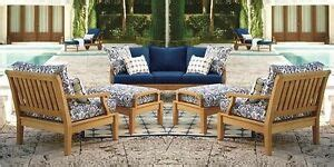 pc teak sofa set garden outdoor patio furniture pool