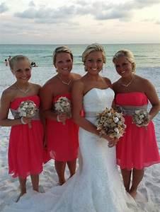 coral burlap beach wedding destin fl june 21 2013 With coral dress for beach wedding