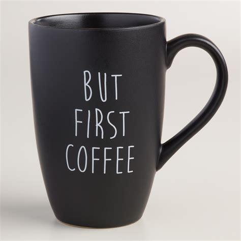 World market rewards members must log in to www.worldmarket.com to redeem offer. But First Mugs, Set of 4 | World Market