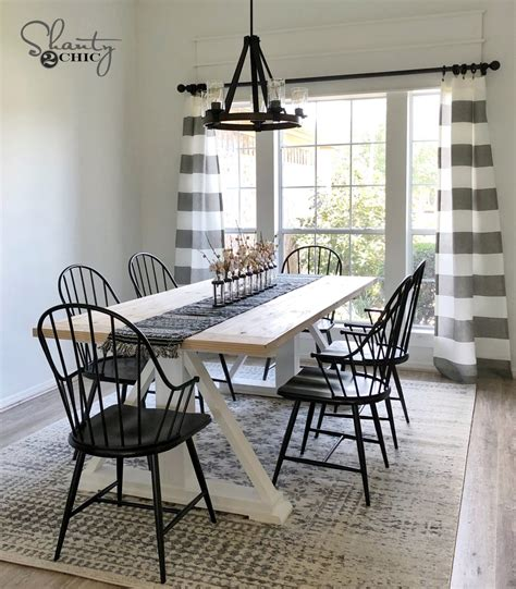 Diy Modern Farmhouse Dining Table  The Leasha Table
