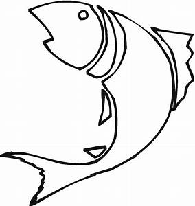 Fish Drawing Outline - ClipArt Best