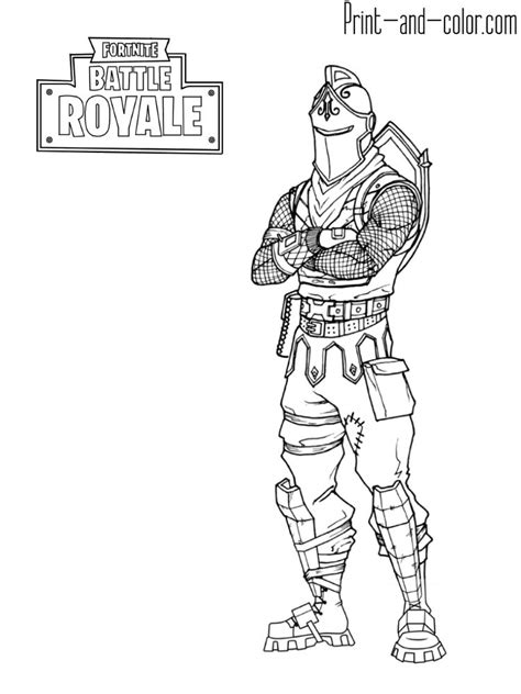 fortnite coloring pages black knight