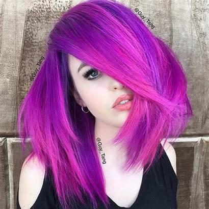 Purple Hair Highlights Pink Bright Brown Blonde