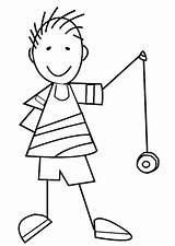 Yo Coloring Boy Letter Printable Preschool Sheets Edupics Yoyo Crafts Activities Worksheets Start Tmnt sketch template