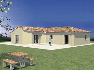 modele de maison en forme de quotlquot 3 chambres avec cellier With modele de maison en l