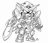 Sd Lineart Exia Coloring Gundam Deviantart Mecha Robot Sheets Colouring Printable Anime Epyon Im Da Reverence Iv Version Ninja Killa sketch template