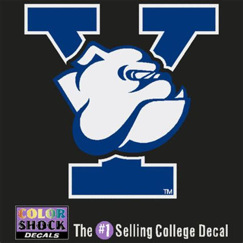 yale school colors the yale bookstore yale bulldogs color shock mascot decal