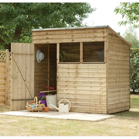 7x5 shed forest garden 7x5 overlap pent shed