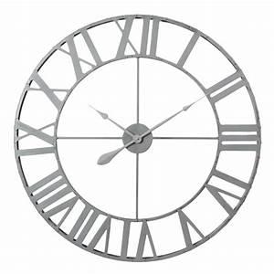 Horloge En Metal : horloge en m tal d 83 cm zinc maisons du monde ~ Teatrodelosmanantiales.com Idées de Décoration