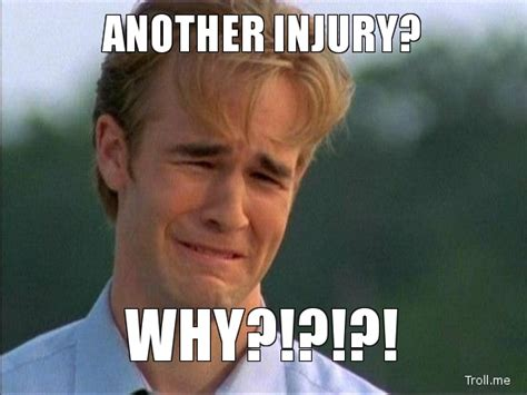 Injury Meme - 5 things football and marathons have in common crg