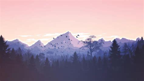 mountain forest landscape minimalist