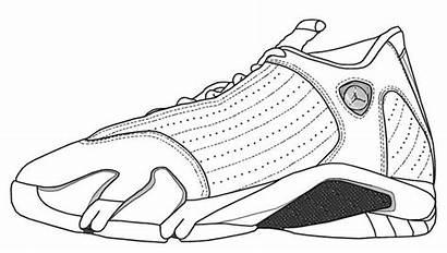 Jordan Drawing Air Shoe Coloring Shoes Pages