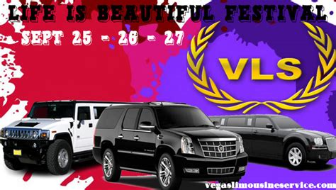 Vegas Limousine Service by Is Beautiful Festival Vegas Limousine Service