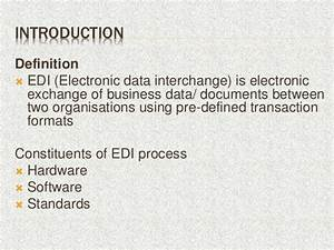 presentation electronic data interchange With electronic documents definition