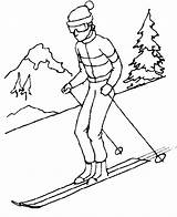 Clipart Skis Skiing Drawing Drawn Line Winter Cliparts Clip Cartoon Library Webstockreview Intramurals sketch template