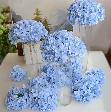 hydrangea flower heads  stem artificial flowers