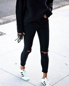 All black with superstars | wearables | Pinterest | Get the look Black outfits and Adidas originals