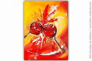 Tableau Pour Cuisine : tableau rouge et orange ambiance festive ~ Melissatoandfro.com Idées de Décoration