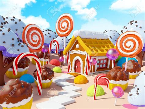 candy land landscape stock photo picture  royalty