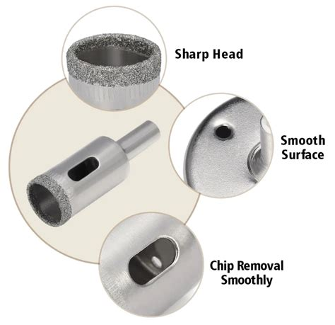 drill diamond bits 15pc 50mm drillpro tile ceramic core glass porcelain correctly holes marble